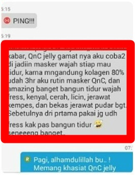 Khasiat QnC Jelly Gamat Untuk Jerawat
